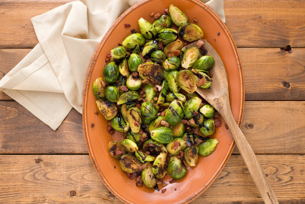 Brussel Sprouts with Pancetta and Balsamic Vinegar-011